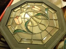 2 ft. octagon stain glass.