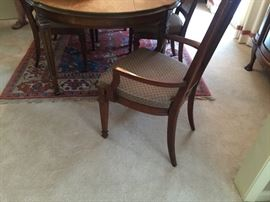 Drexel dining table and 8 cane backchairs