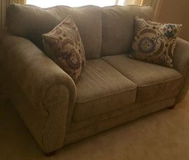 Stylish sofa in formal living room. Very little use.