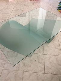 Glass coffee table   52x34