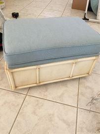 (2) matching storage foot stools