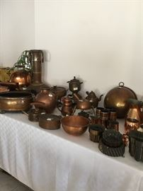 Copper and Hammered Copper items