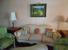 Edwardian Sofa, Oil On Canvas