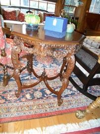 Mahogany Renaissance Revival Lamp Table