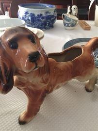 ceramic dog - planter