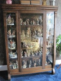 square oak china cabinet
