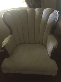 French provincial brocade arm chair