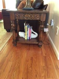 End table - measures 24 inches long x 26 inches wide x 26 inches tall. ($150)
