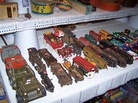 Marx Willis jeep, Tonka army jeep, Cast iron trains, Marx tin trains