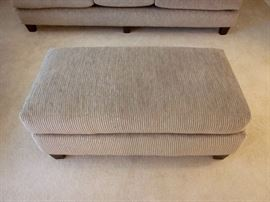"Oversized (double-width) ottoman.  Like new!!  Nice neutral grayish tan fabric.  Made in U.S.A.  Size:  48"" x 26"""
