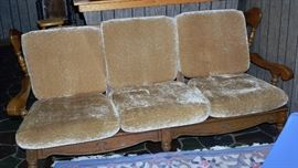 Early American Sofa - Nice condition - Has matching chairs with Ottamans