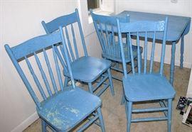 Blue Painted Dinette Set