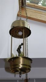 Hanging Lamp with Oil Threads