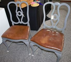 Pair of painted vintage chairs