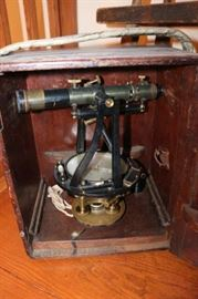 Antique Surveyor Transit - In original box, nice condition.