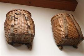 Antique Adirondack Fishing Baskets