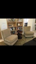Pair of wonderful slipper chairs