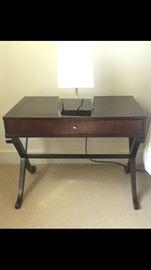 Baker side table & lamp