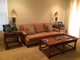 sofas, end tables and coffee tables