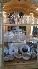 Some of the contents of china cabinett