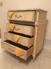 4 drawer upright Chest; French Provencial -SOLD