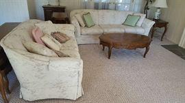 Crème sofa - $75 each  (2)   NOW $50 for both