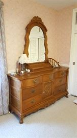 Oak Dresser with mirror    $300  NOW only $150
