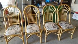 bamboo chairs  $50 for all   NOW $25 for all