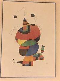 Framed Miro poster