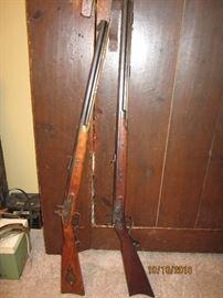50 calibur and 45 calibur black powder rifles
