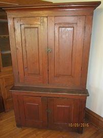 1800's stepback cupboard with original finish