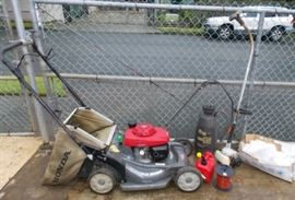HCE026 Yard Lot - Honda Mower, Sprayer, Weed Eater & More