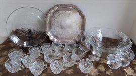 HCE047 Punch Bowl Set, Glasses and Serving Trays