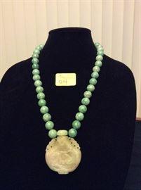 HFJ014 Stunning Jade Necklace w/ Bottle Pendant