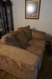 microfiber tan sofa