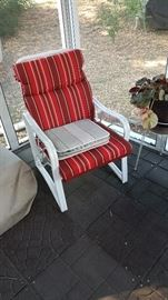 Nice patio set.  One of five pieces, including a chaise.