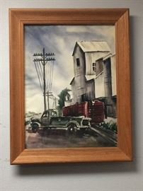 This is a 1950 watercolor, signed and painted in Iowa