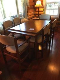 teak veneer table with chairs