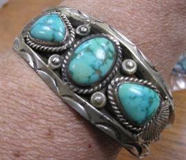 Navajo Turquoise & Silver Cuff Bracelet