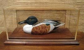 Hand Carved Spoonbill Drake Duck Decoy Gary Hill