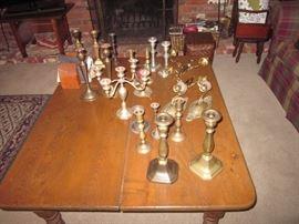 Several candlestick sets.