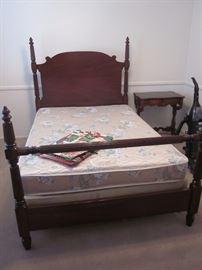 Twin pedestal bed.