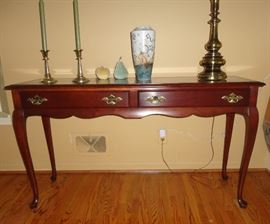 An elegant sofa table