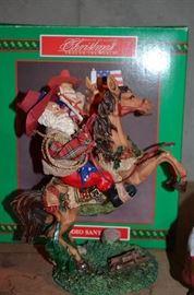 Santa Cowboy Figurine