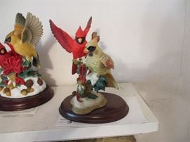 Collection includes the Lenox wild birds series, all with authenticity certificates