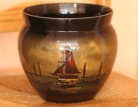 hand painted nautical scene