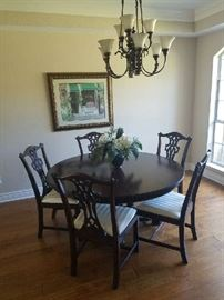 Ralph Lauren round dining table with 6 chairs