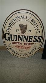Guineas beer sign
