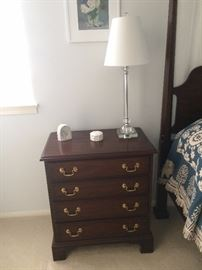 Mahogany Nightstand -  1 of 2 table lamps