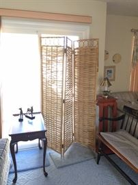 Wicker Room Divider / Small end table